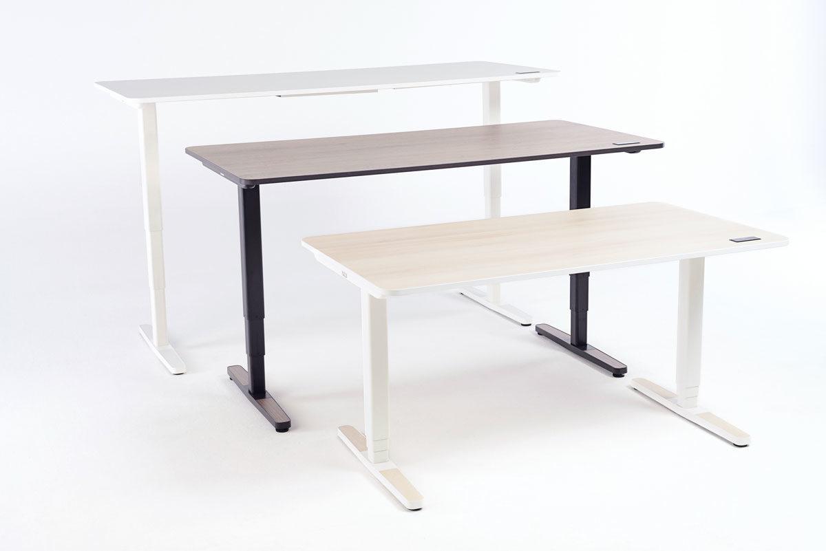 Der Yaasa Desk Pro II ist in drei Farben erhältlich und kann somit in verschiedene Räume integriert werden.