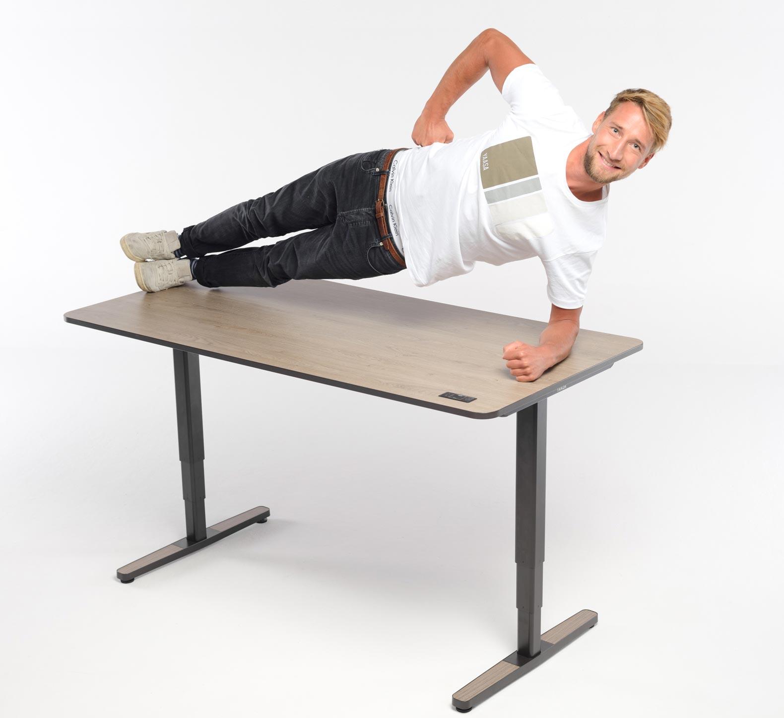 Der Yaasa Desk Pro II ist äußerst stabil und robust.